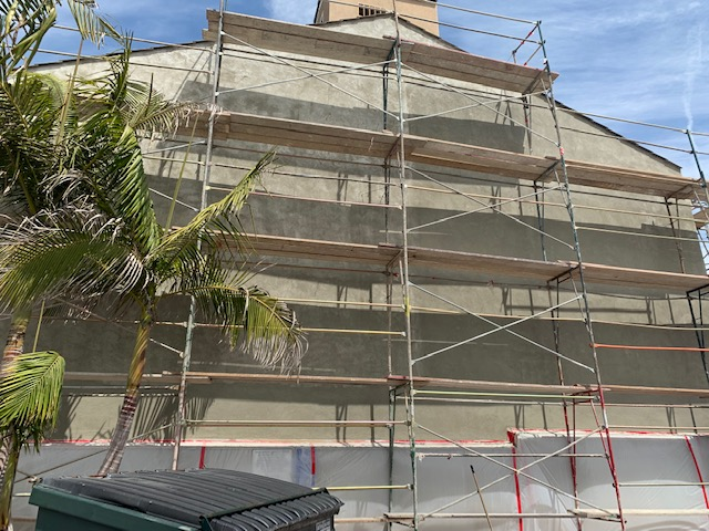 Anaheim Commercial Re-stucco Process